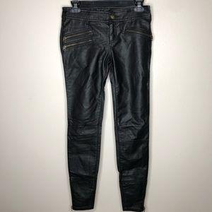 Free People Skinny Vegan Leather Pant Black